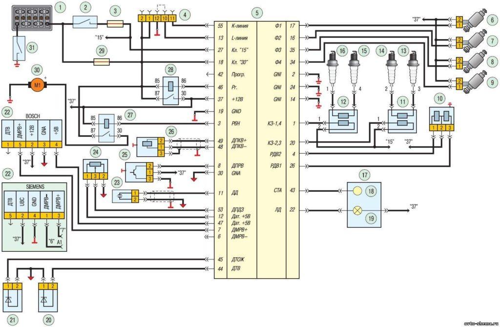 Электрические схемы УАЗ Патриот