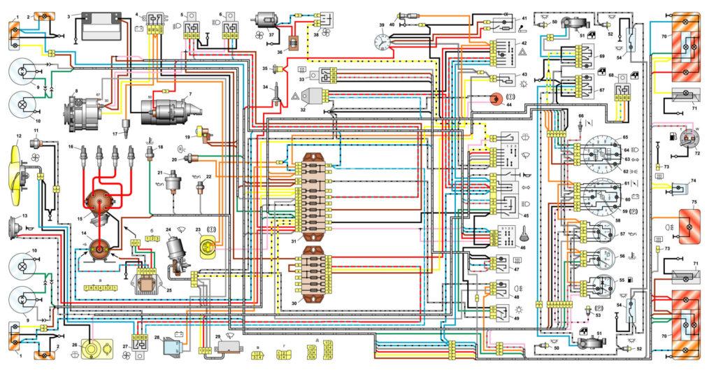 Электрические схемы ВАЗ 2106
