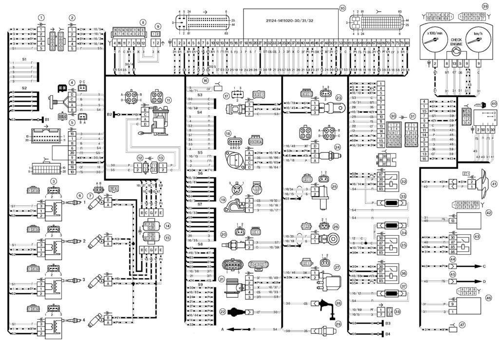 Электрические схемы ВАЗ 2110